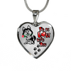 Husky - I'd Be Lost without You - with Rose and Paw Prints Leading To Your Heart - Luxury Adjustable Necklace or Bangle