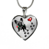 Awesome French Bulldog with Rose and Paw Prints Leading To Your Heart Adjustable Luxury Necklace or Bangle