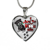 Rottweiler - I Love You To The Moon and Back - With Rose and Paw Prints - Luxury Adjustable Necklace or Bangle