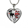 Doberman - I'd Be Lost without You - With Rose and Paw Prints - Luxury Adjustable Necklace or Bangle