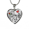 Awesome Shetland Sheepdog with Rose Paw Prints Leading To Your Heart Adjustable Luxury Necklace or Bangle
