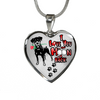Doberman - I Love You To The Moon and Back - With Rose and Paw Prints - Luxury Adjustable Necklace or Bangle