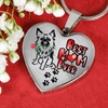 German Shepherd - Best Mom Ever - with Rose and Paw Prints Leading to your Heart - Luxury Adjustable Necklace and Bangle