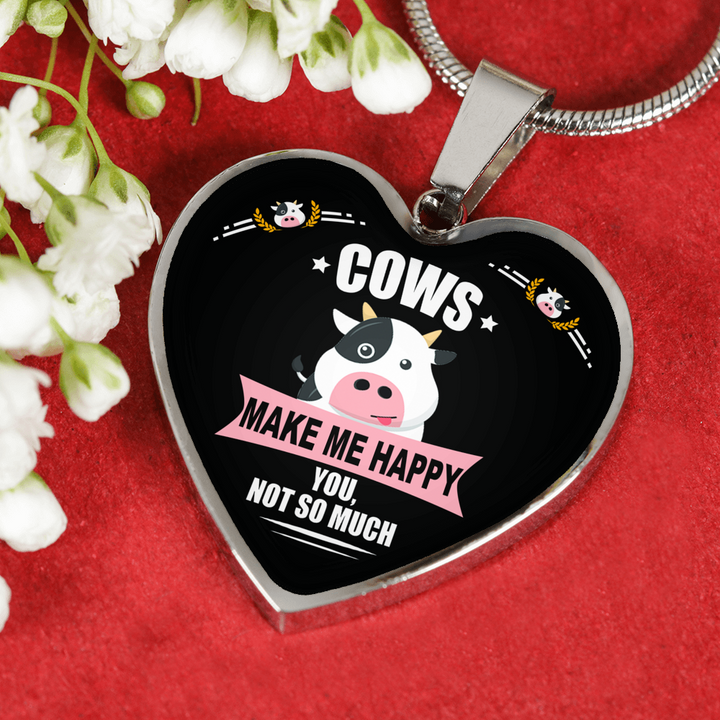 Cows Make Me Happy Luxury Adjustable Necklace or Bangle