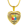 Always On My Mind and Forever in my Heart - Autism - Heart - Luxury Necklace or Bangle