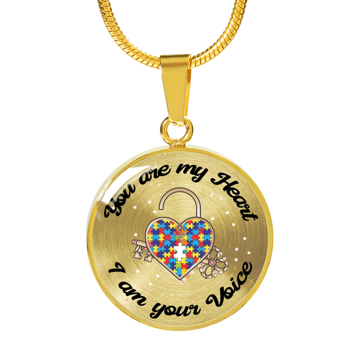 You are my Heart I am your Voice Autism Luxury Necklace or Bangle