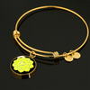 18k Gold Finish and Silver Solar Plexus Chakra Circle - Luxury Adjustable Necklace (w/ Bangle variant)