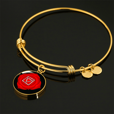 18k Gold Finish and Silver Root Chakra  Circle - Luxury Adjustable Necklace (w/ Bangle variant)