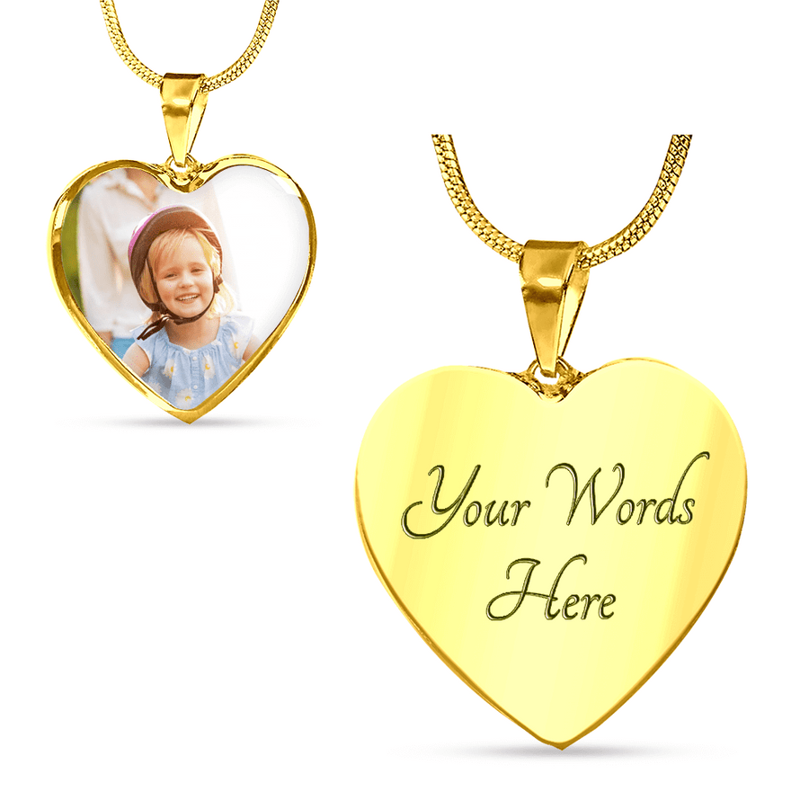 Photo Memories Personalized Luxury Heart Necklace or Bangle