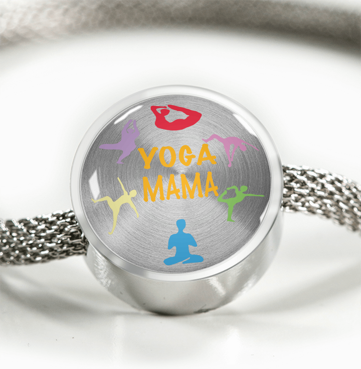 Yoga Mama   Luxury Bracelet w/ Circle Charm