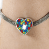 Autism Colorful Puzzle Bright Heart Charm Bracelet