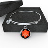18k Gold Finish and Silver Sacral Chakra Circle - Luxury Adjustable Necklace (w/ Bangle variant)