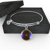 18k Gold Finish and Silver Healing Crystals Crown Chakra Circle - Luxury Adjustable Necklace (w/ Bangle variant)