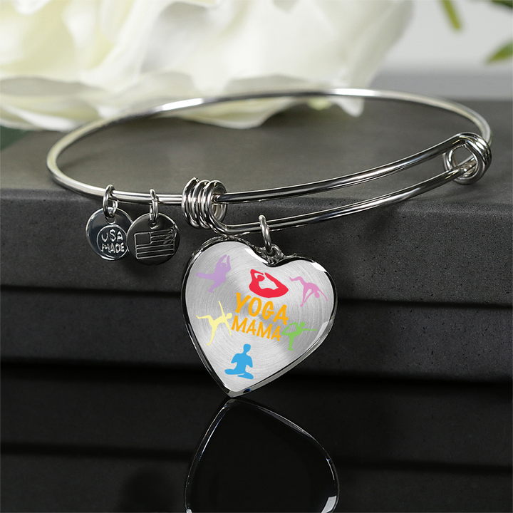 Yoga Mama Heart  Luxury Adjustable Necklace or Bangle
