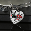 French Bulldog - I'd Be Lost without You - With Rose and Paw Prints - Luxury Adjustable Necklace or Bangle