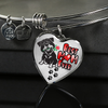 Rottweiler - Best Mom Ever - With Rose and Paw Prints - Luxury Adjustable Necklace or Bangle