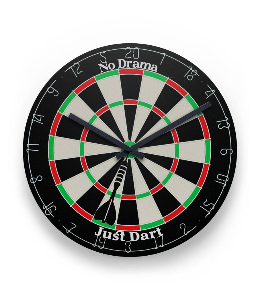 "No Drama Just Dart 11"" Round Wall Clock"