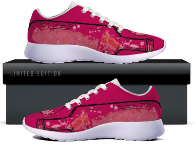Sparkling Wine in Glass and Bottle WOMENS SNEAKERS - Pink