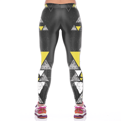 Abstract Triangle Pattern Leggings