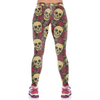 Sugar Skull Red Rose Leggings