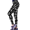 Sugar Skull Leggings With White Prints