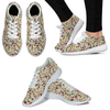 Colorful Wine Glasses WOMENS SNEAKERS - White