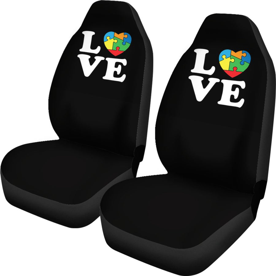Autism Love Universal Car Seat Cover (Set of 2)
