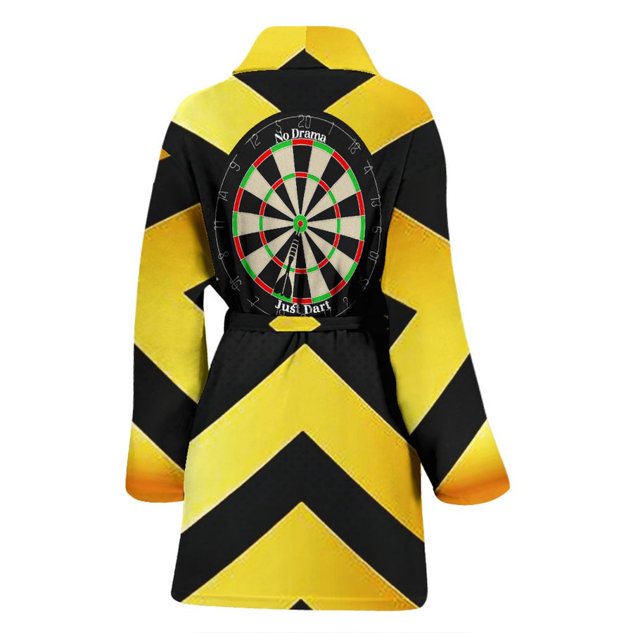 No Drama, Just Dart Women's Bath Robe - Yellow