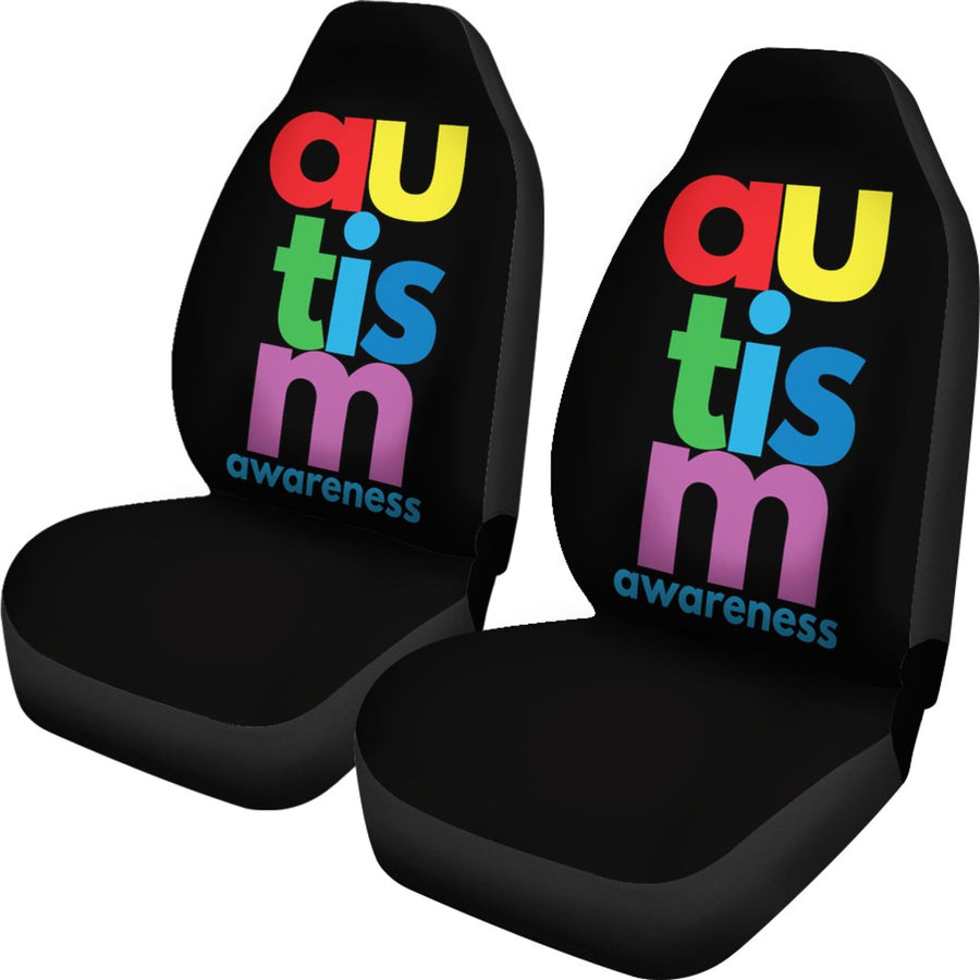 Autism Awareness (Vertical Design) Universal Car Seat Cover (Set of 2)