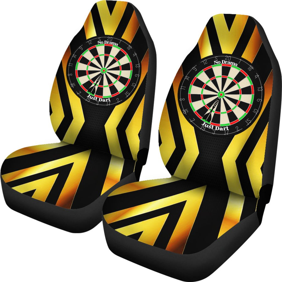 No Drama, Just Dart Car Seat Covers - Yellow