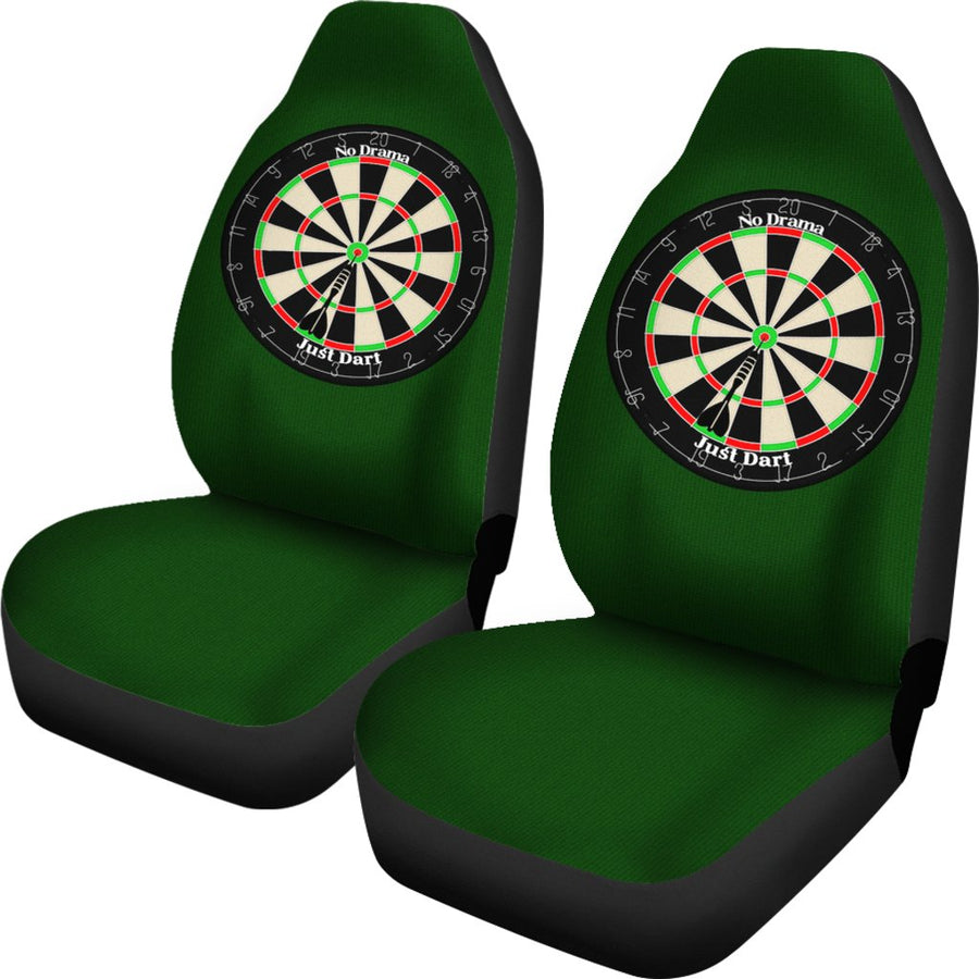 No Drama Just Dart Car Seat Covers(Set of 2)