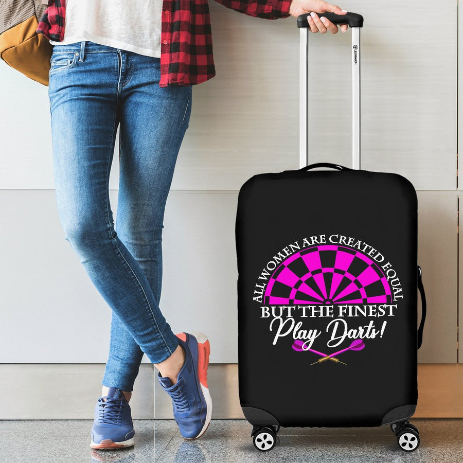 All Women Are Created Equal But The Finest Play Darts Luggage Cover