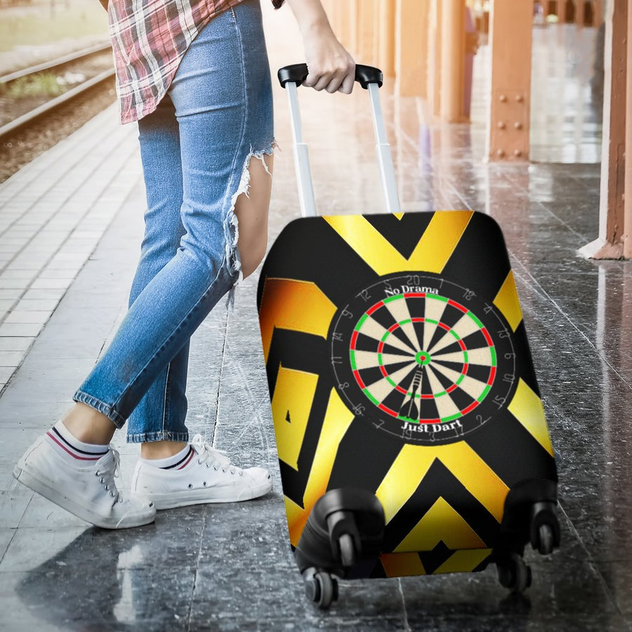 No Drama, Just Dart Luggage Cover - Yellow