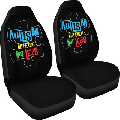 Autism Different Not Less Universal Car Seat Cover (Set of 2)