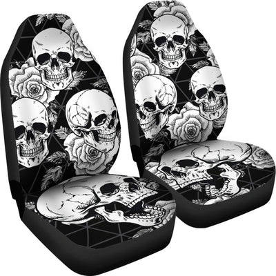 Black Skulls Universal Car Seat Cover (Set of 2)
