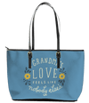 A Grandma's Love Leather Tote Bag (Large) - Powder Blue