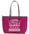 My Favorite Disney Queen Leather Tote Bag (Large) - Pink