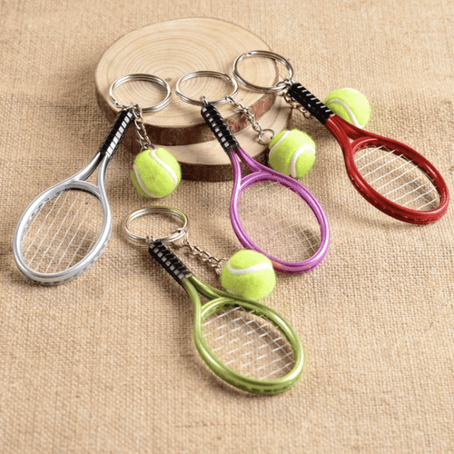 Tennis Racket & Ball Keychain - Global Dibs