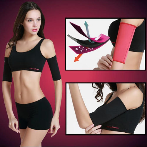 Thermo Sauna Slimming Arm Trainer Sleeves - Global Dibs