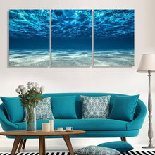 In The Ocean™ Premium 3-Piece Canvas - Global Dibs