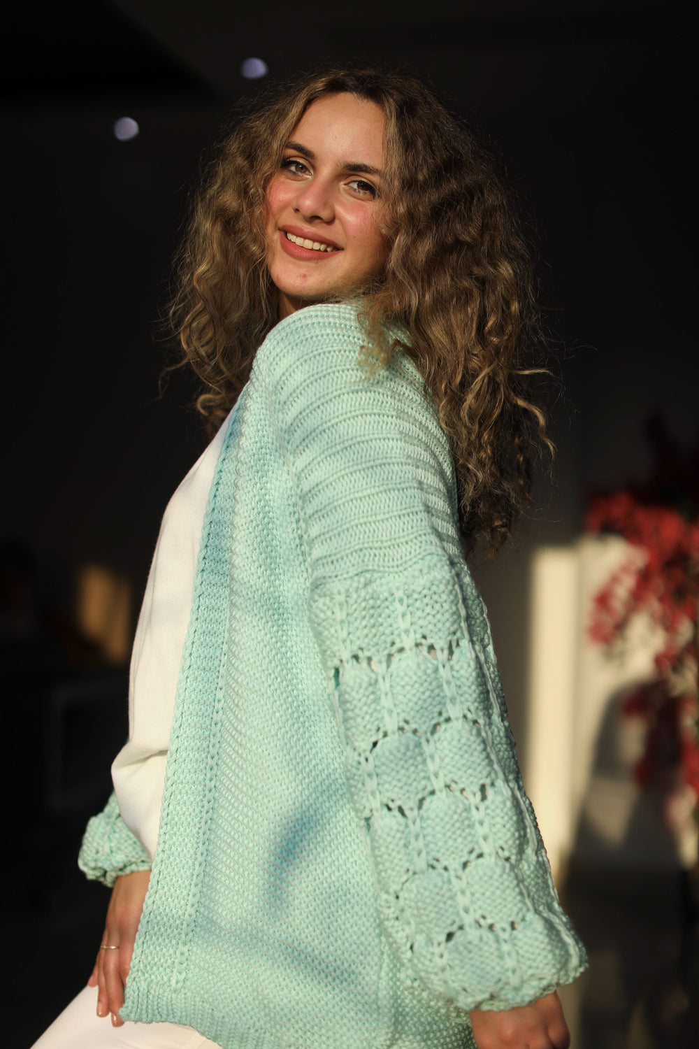 The Knitty Girl Heavyweight Cardigan Mint Green