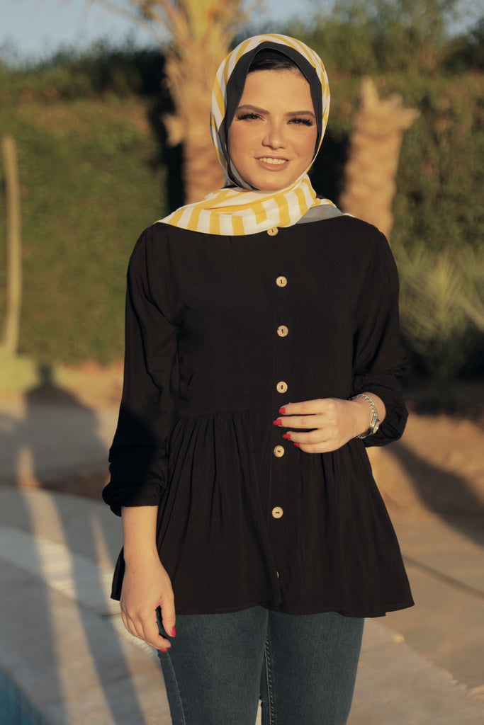 Beauty Queen Blouse - Black