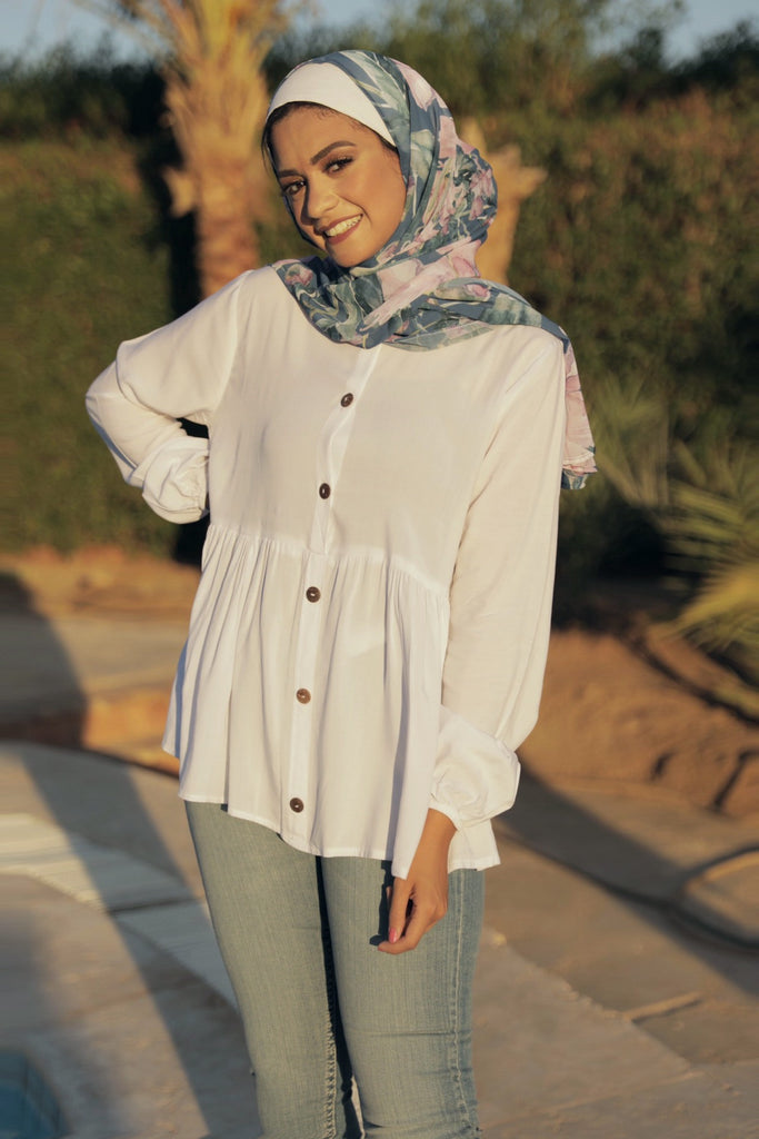 Beauty Queen Blouse - Cream