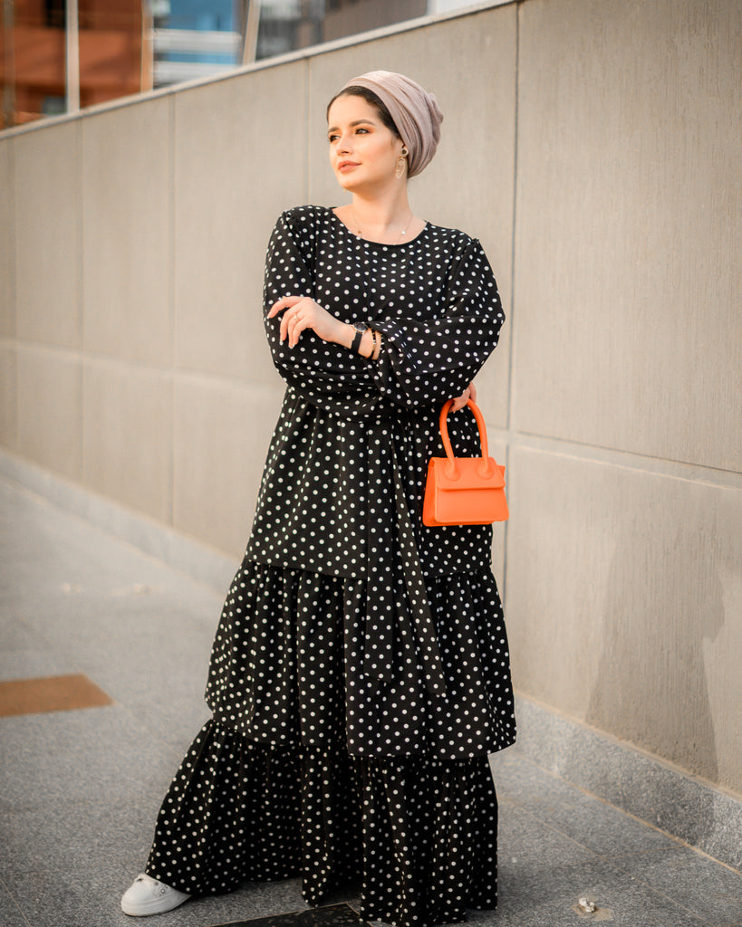Dots Dress Black