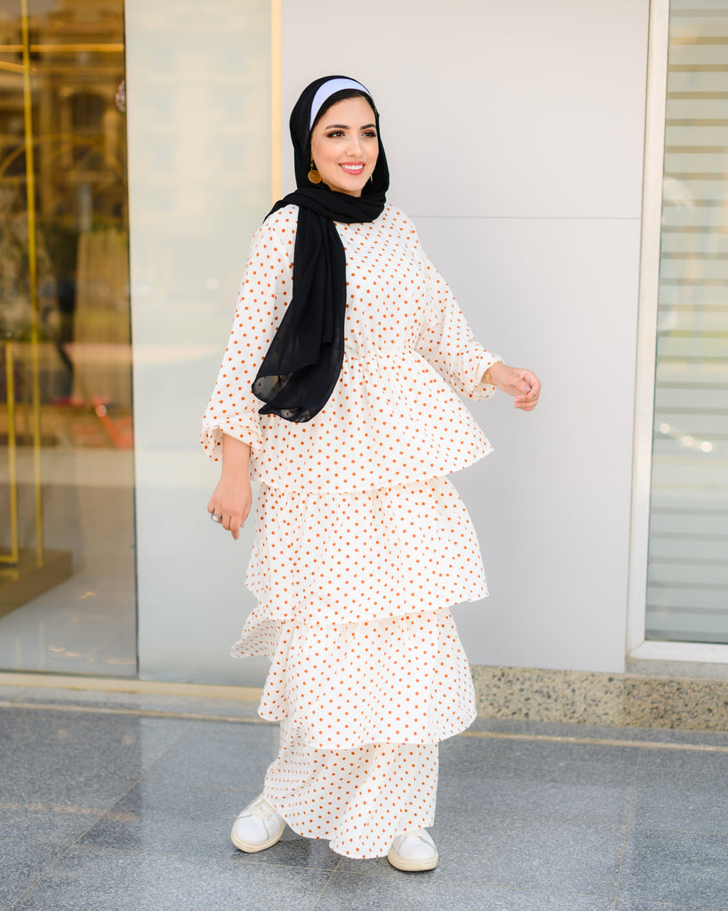 Dots Dress Cream