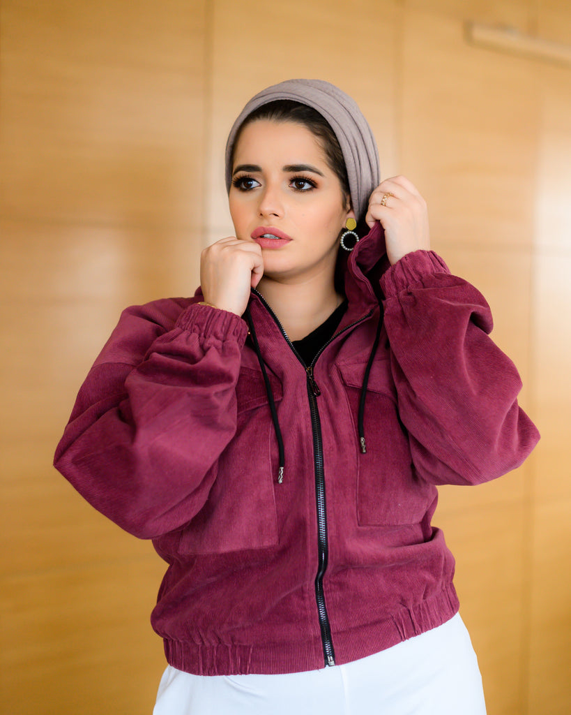 Shortie Jacket Dust Maroon