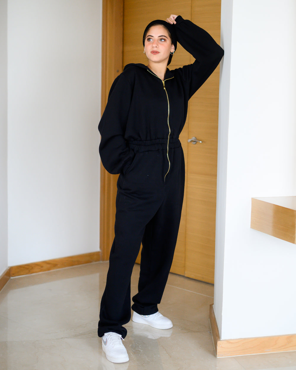 Sporty Jumpsuit Black