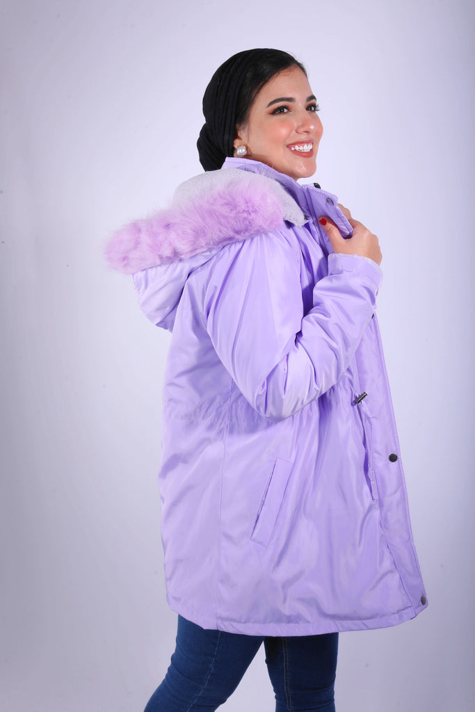 Furry Proof Jacket Lavender