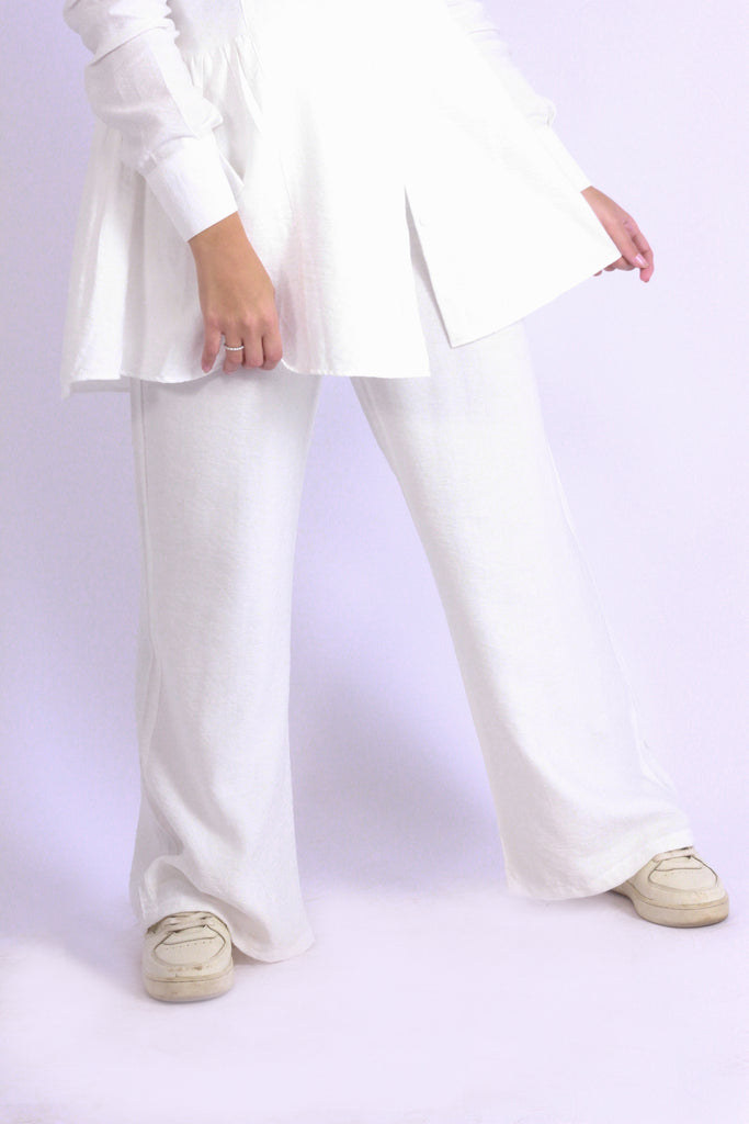 Linen wide pants Cream