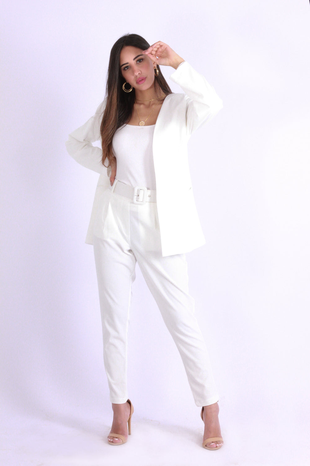 Basic Blazer Cream